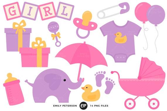baby shower clip art baby girl clipart nursery clip art rh etsystudio com
