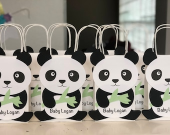 15% OFF Limited Time - Panda Bear (Set of 10) Baby Shower/ Birthday Party Favors/ Bags / Goodies/ Goody/ Candy/ Supplies/ Decorations/ Gifts