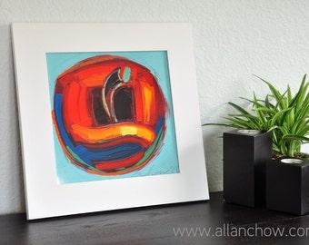 Framed Print-Golden Apple-10X10-Modern Fine Art