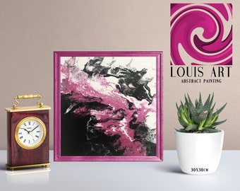 Abstract Painting - Metallic Pink
