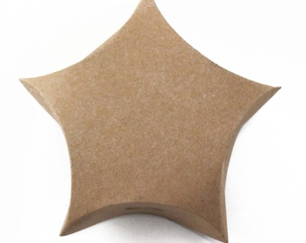"""4"""" EcoFriendly Craft Star Shaped Gift Favor Box [Set of 12] - **FREE SHIPPING**"""