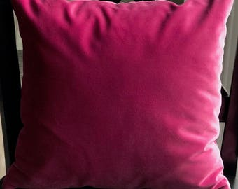 Bubble Gum Pink Velvet Pillow Cover