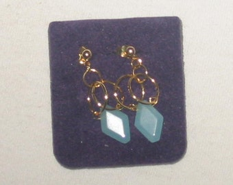 Powder Blue Quartz handmade earrings...