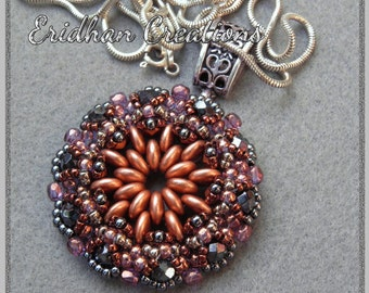 Mandala - beaded pendant - tutorial