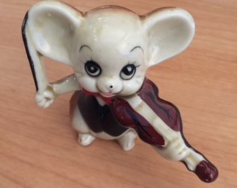 Mouse Playing Violin Figurine