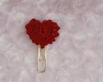 Valentine heart paperclip bookmarker journal Bible scriptures