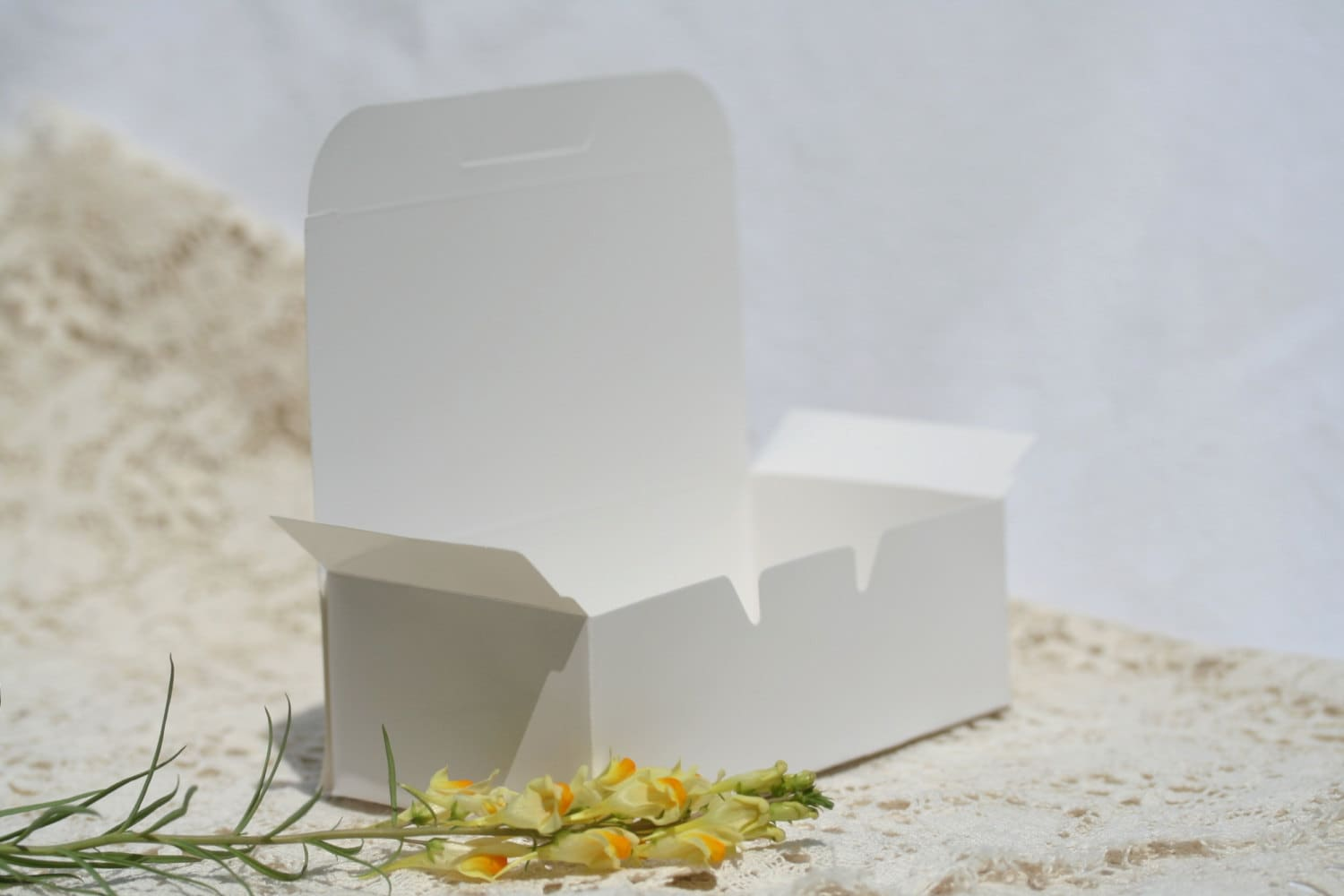 50 Cake Boxes Favor Boxes 5.5 by 1.75 Inches Wedding Cake Box