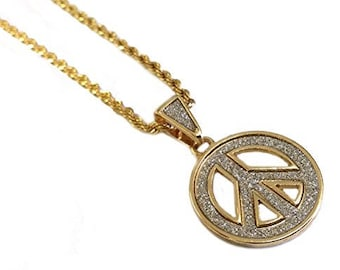Peace Symbol Pendant Fashion Necklace