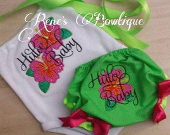 Hula Baby TShirt and Bloomer