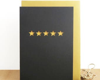 Congratulations card, Well done card, Five star card, Exam done card, New job card, Good job card, Achievement card, You're a star card