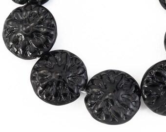 14mm Black Dahlia Bead (10 Pcs) #CZL202