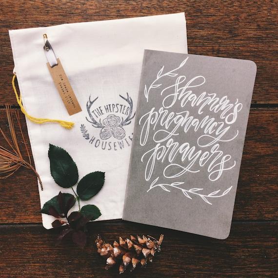 Personalized prayer journal, pregnancy journal, custom baby shower gift, scripture art, Christian mother's day gift, new mom gift, for her