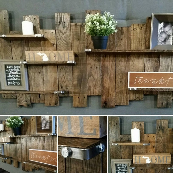 Reclaimed Wood Wall Shelf, Reclaimed Wood Wall Decor, Wood Shelf, Pallet  Wall, Reclaimed Shelf, Rustic Wood Shelves, Rustic Wall Shelves