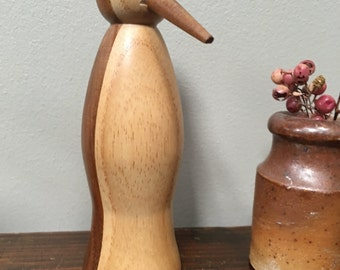 Beautifully formed and graphic Penguin Wooden Penguin Figurines
