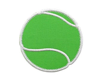 "Tennis Ball Appliques Machine Embroidery Design Applique Pattern in 5 sizes 2"", 3"", 4"", 5"" and 6"""