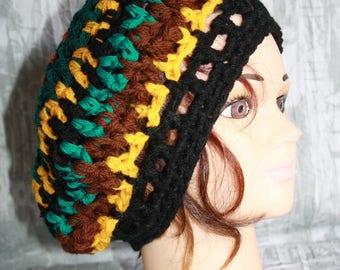 beret, crochet;  very nice mesh