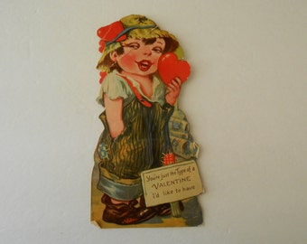 large stand up Valentine girl with squeaker Germany