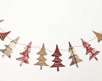 Christmas Tree Banner, Christmas Banner, Holiday Banner, CUSTOM banner