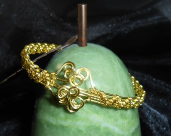 Brass Hand Weaved Bracelet - A Beautiful Piece