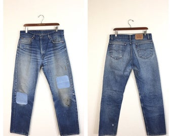 90's levi's 505 straight fit denim pants jeans made in usa zipper fly size w36