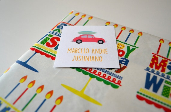 Volky gift card personalized gift cards boys calling cards like this item negle Choice Image