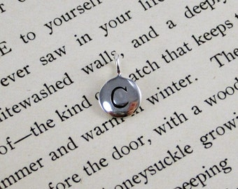 """Sterling Silver Letter  """"C"""" Charm"""