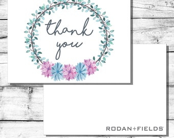 Floral Rodan + Fields Thank You Card | Instant Download