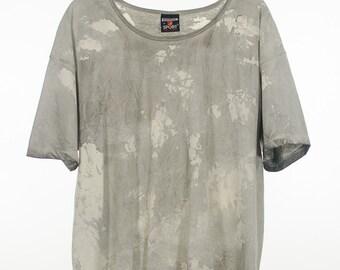 Ink Blot Wash Art Print Premium Graphic Vintage Tee Gray Watercolor Paint Splash Tshirt unisex Medium Large