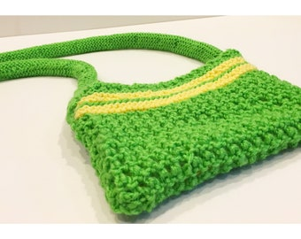 Lime Green Summer Knitted Purse
