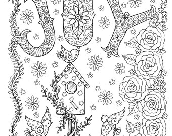 Printable Christian Coloring Book for Adults: Delight in the
