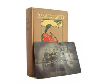 """Antique tintype photograph found in """"Barbary Sheep""""  by Robert Hichens, first edition, 1907 - Free US Shipping"""
