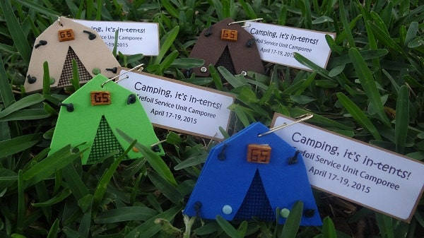 ?zoom & Set of 10 Camping Itu0027s in-tents Girl Scout SWAP or Craft