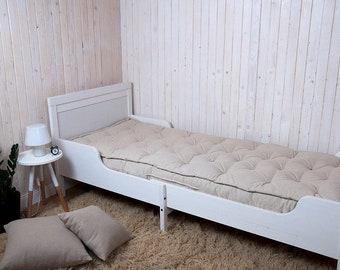 Ikea Sniglar Wool-Filled Mattress / Any size on request / All-Natural / Oeko-tex Certified Wool Filling / Cotton, Linen, Wool Fabrics