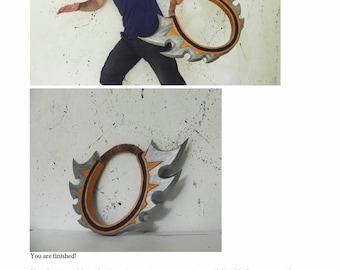 How to make Maiev weapon World of Warcraft complete tutorial cosplay prop