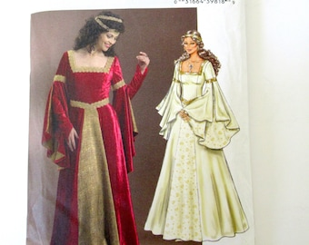 Pattern Medieval Dress, uncut pattern, Butterick B4571 pattern, Renaissance dress pattern, Renaissance Wedding dress, Wedding,  6-8-10-12