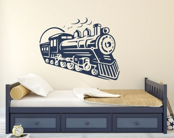 Train Wall Decal, Locomotive Decal, Old Train Decor, Choo-Choo Train - WD0222