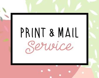 Print & mail service