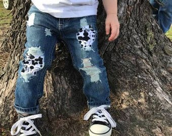 Mickey Mouse Distressed Jeans Shorts Mickey Mouse Birthday Boys Pants Boys Jeans