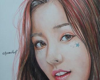 Kpop Momoland Nancy drawing prints