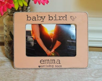 Baby bird Mom to be gift Personalized picture frame for mom mommy mama fathers Mother's day gift Pregnancy Expecting mom gift photo frame