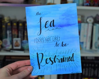 The Sea Does Not Like to Be Restrained Percy Jackson Print