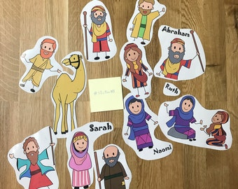 Bible Characters Stickers (Collection of 11 Stickers)