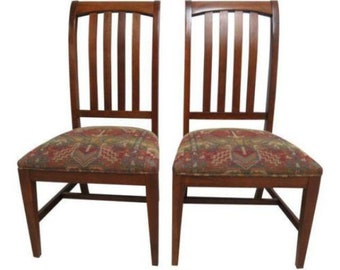 2 Ethan Allen Mission American Impressions Cherry Dining Room Side Chairs C