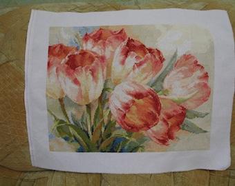 Tulips cross stitch pattern flowers