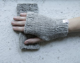 Women's Fingerless Mitts - 100% wool