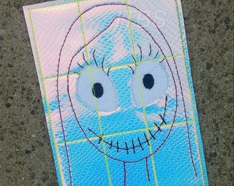 Zipper mouth girl tic tac toe board with pieces 4x4 and 5x7 included