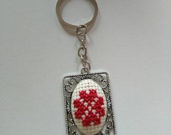 Embroidered keychain