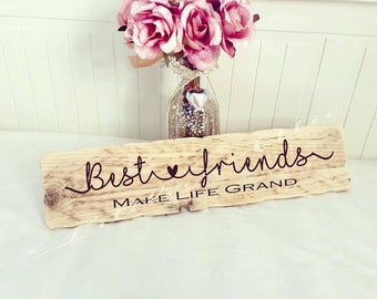 Wooden Sign, Rustic Wooden Signs, Best Friend Wooden Sign, Wall Signs, Wooden Signs, Wooden wall signs