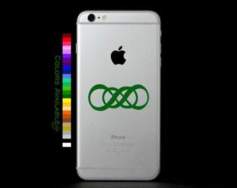 Double Infinity Phone Decal
