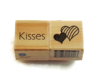 Mini  Rubber Stamp Set -  Kisses